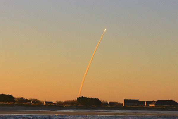 Un tir de missile en 2010, au large du Finistère
