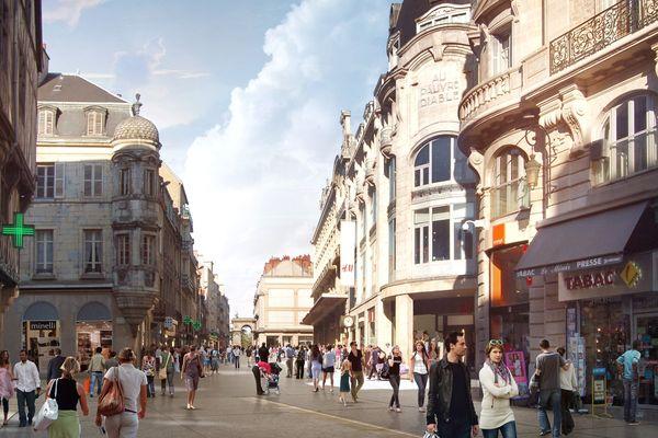 Vue d'architecte de La Rue de la Liberté une fois terminée
