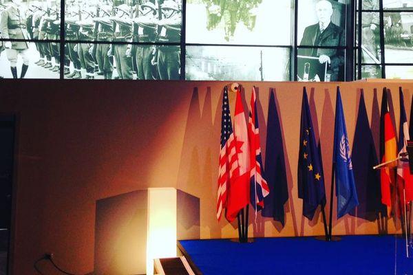 L'inauguration du musée guerre et paix a eu lieu 55 ans jour pour jour après le traité de l'Elysée / Nobion-Porcien, Ardennes, 22 janvier 2018