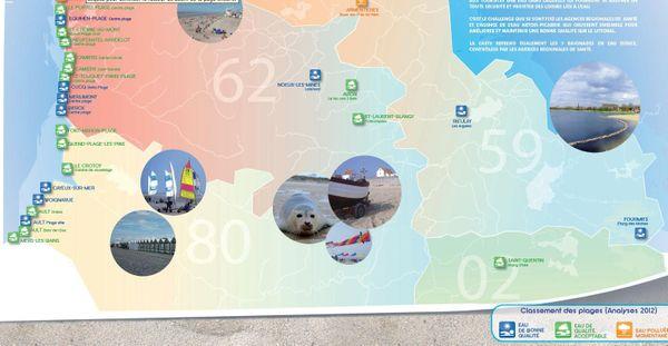 La carte de la qualité des eaux de baignade