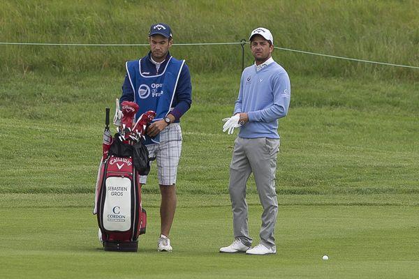 A Guyancourt, le 30 juin 2016, Sébastien Gros, à l'Open de France de Golf.