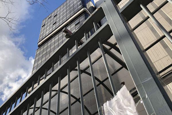 Le centre Pierre-Mendès-France de l'université Paris-1 Panthéon-Sorbonne, rue de Tolbiac, fermé à partir de ce jeudi 12 mars.