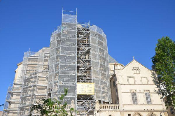 Les travaux de façade sont en cours à l'église Saint-Michel.