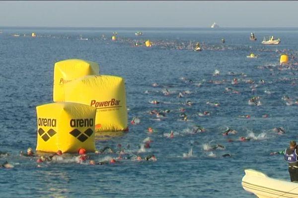 Au programme de l'Ironman France qui se déroule à Nice : 3,8 km de nage, 180 km de vélo et un marathon de 42 km.