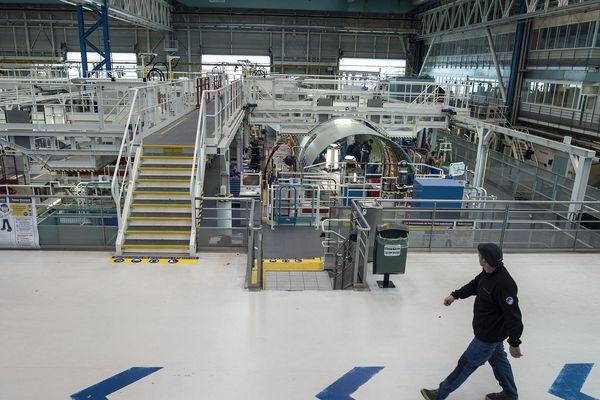 Archives Novembre 2017. L'usine Airbus à Montoir de Bretagne près de Saint-Nazaire