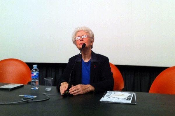 Francine Christophe au Mémorial de Caen ce mardi après-midi