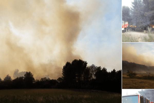 Les pompiers luttent d'arrache pied contre le feu