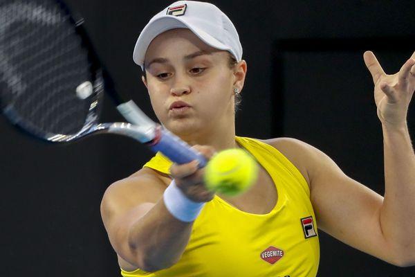 Ashleigh Barty à Brisbane en Australie, lors de la Fed Cup tennis tournament World, en avril 2019