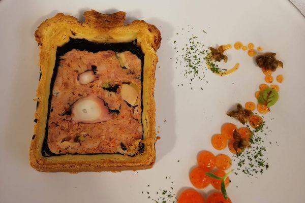 Le pâté en croûte à l'ourite de Margaux Moisiere, récompensé au championnat du monde.