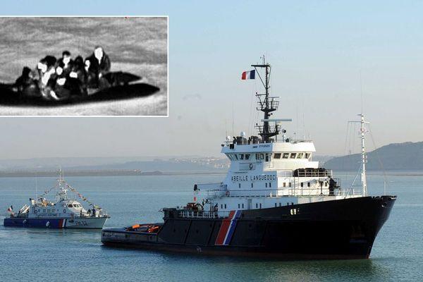 """Le remorqueur de la préfecture maritime """"Abeille Languedoc"""" a notamment été déployé."""