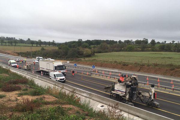 L'A71 est déviée vers un axe provisoire pour la durée des travaux