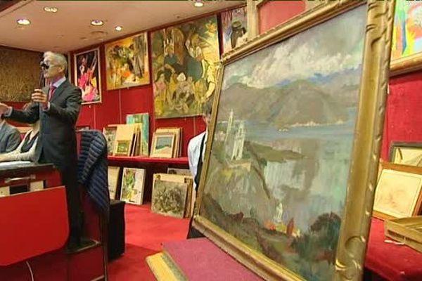 """Le 20 mai 2015, salle Drouot à Paris, une quarantaine de peinture """"corses"""" ont été proposées à la vente"""