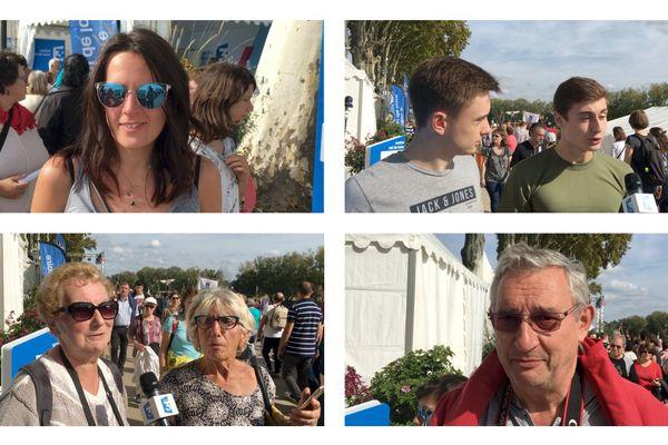 Nous avons rencontré des visiteurs dans les allées du Festival de Loire