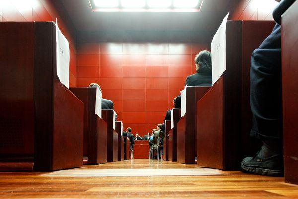Une salle d'audience du Tribunal de Grande Instance de Nantes