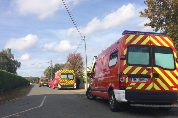 Camions de pompiers, le 12 octobre 2018 à Mazé-Milon