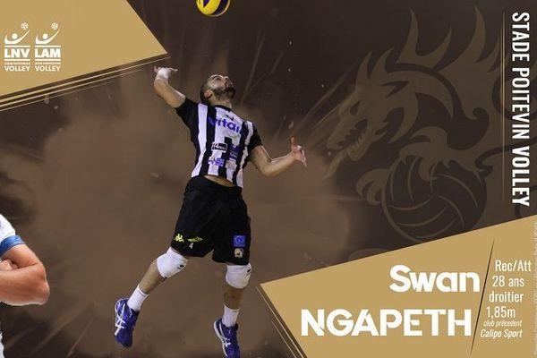 Le Stade Poitevin Volley annonce le retour de Swan N'Gapeth à Poitiers.