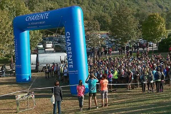 Plus de 800 participants pour la 12ème édition du Trail du Chambon à Eymouthiers en Charente.