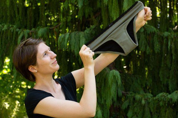 Lise Gerard, fondatrice de LilY Basic, une jeune société spécialisée dans les culottes menstruelles.
