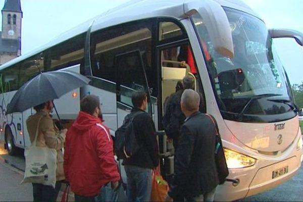 En Bourgogne, la CGT a affrété 20 bus pour convoyer ses adhérents à Paris pour manifester contre la loi Travail.