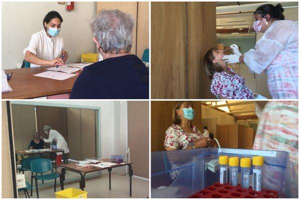Des tests sont proposés à la mairie de Malesherbes (Loiret) dans une salle mis à la disposition par la mairie.