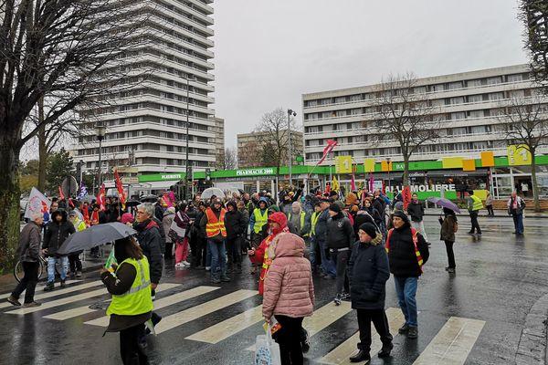 Samedi 8 février 2020, quartier du chemin vert, à Caen.
