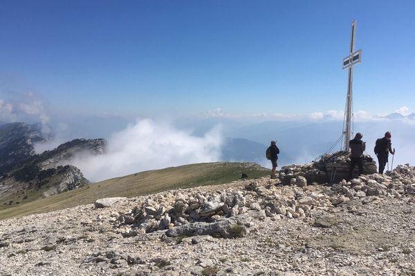 Le sommet de la Dent de Crolles en Isère.