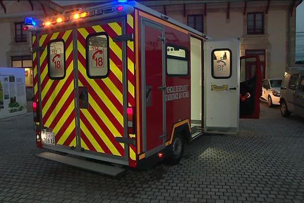 Les pompiers étaient également sur place à la gare de Biganos-Facture.