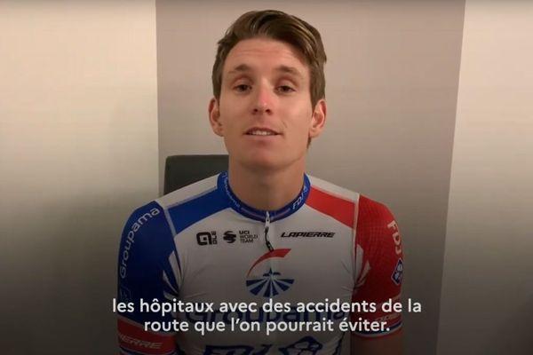 Arnaud Démare a enregistré cette vidéo pour la Sécurité routière