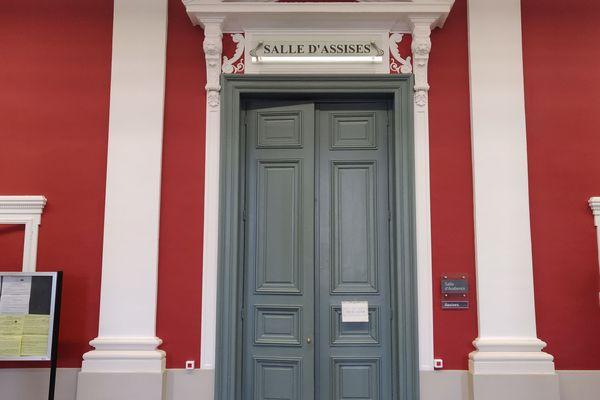 Salle d'assises au tribunal d'Amiens.