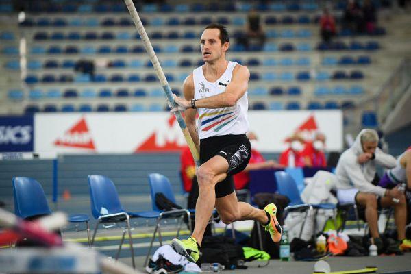Le perchiste Renaud Lavillenie a terminé à la 3e place des Championnats de France en salle le 21 février.