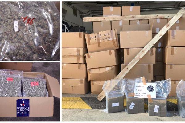 Au total, ce sont 2 tonnes de drogue qui ont été saisies par les douanes sur l'A 63, les 20 et 21 février