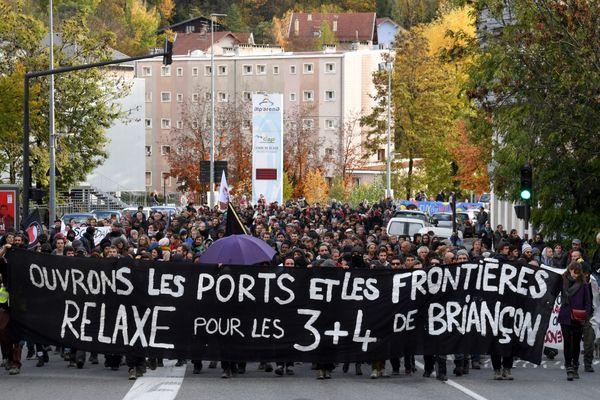 """Manifestation en soutien aux """"sept de Briançon"""", en novembre 2018."""