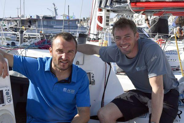 Adrien Hardy (gauche) et le Nordiste Thomas Ruyant (droite). Archive.