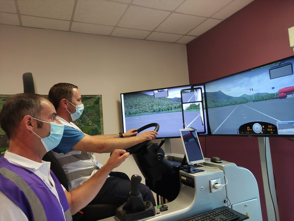 Le simulateur de conduite parmi les épreuves du trophée des routiers