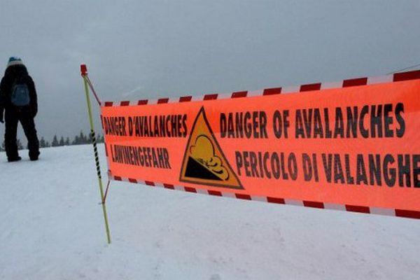 """Alerte orange """"avalanches"""" dans les Alpes-Maritimes."""