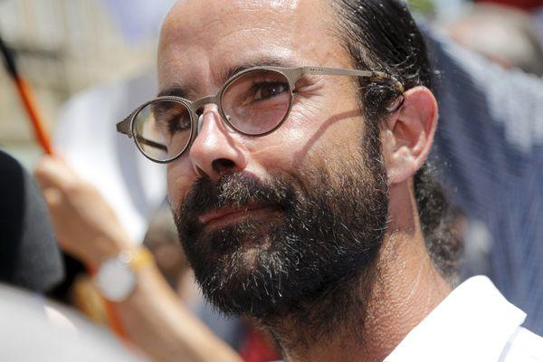 Cédric Herrou, lors de son procès en appel, le 19 juin 2017 à Aix-en-Provence.