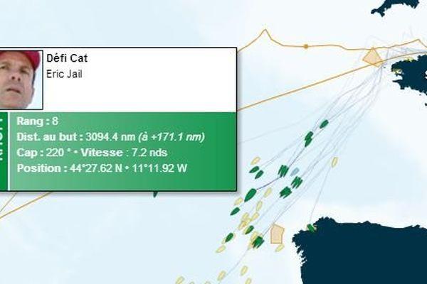 Eric Jail, skikpper catalan, est 8ème dans sa catégorie, dans la 10ème Route du Rhum