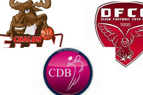 Le CDB, le DFCO, et l'Elan Chalon, en handball, football et basket sont en piste ce vendredi 12 avril 2013.