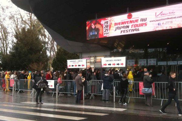 L'entrée du Centre international de congrès de Tours qui accueille le Japan Tours Festival, le 20 février 2016.