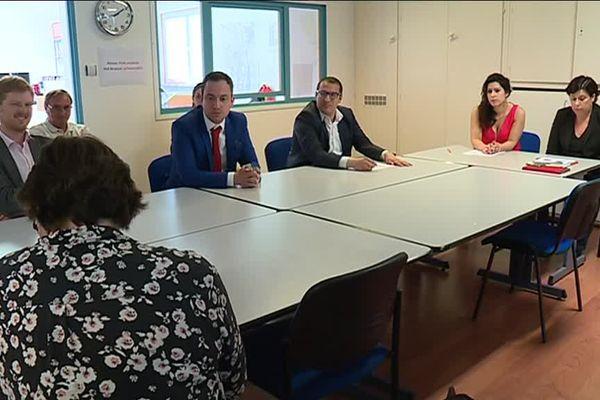 La présentation des candidats PS/PRG dans le Bas-Rhin