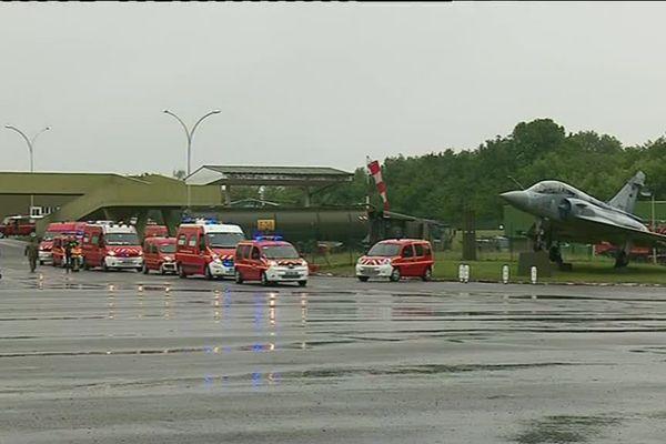 Exercice à la base militaire 942 de Lyon Mont Verdun