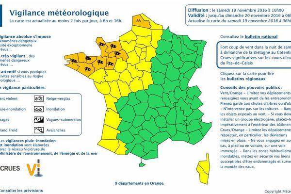 Alerte vent violent : vigilance jaune dans la région