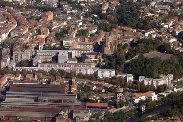 Pamiers, la plus grande aire urbaine de l'Ariège.