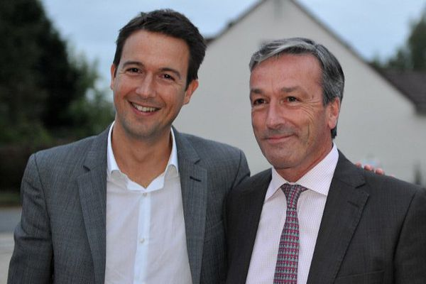 Guillaume Peltier (Les Républicains), colistier de Philippe Vigier (UDI), tête de liste de la droite et du centre