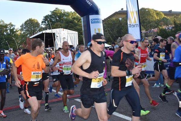 Au départ du 9e Marathon Metz Mirabelle le 14 octobre 2018.