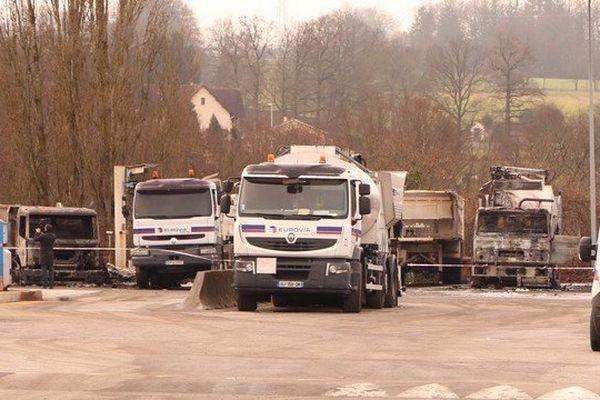 Sept camions brûlés chez Eurovia, en zone sud à Limoges.