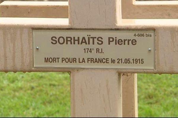 Un siècle après sa mort, Pierre Sorhaïts a désormais une sépulture.