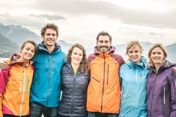 Une partie de l'équipe Explora Project. Alix Gauthier et Stanislas Gruau sont respectivement première et cinquième en partant de la droite.