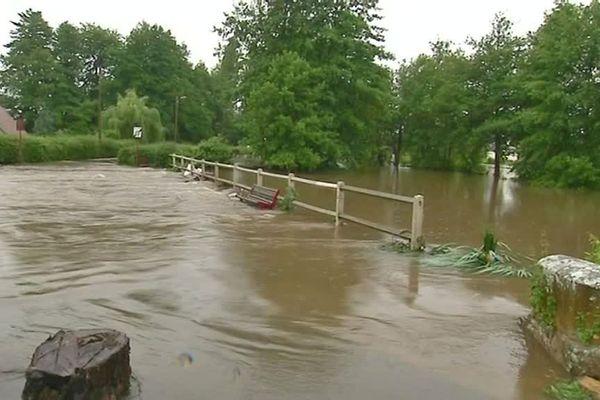 Les inondations dans l'Eure en juin 2018