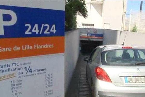 Le parking de la rue de Tournai, le long de la gare Lille Flandres, devient gratuit avec Tripndrive
